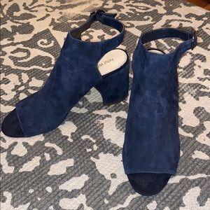 Nine West Blue Suede Booties